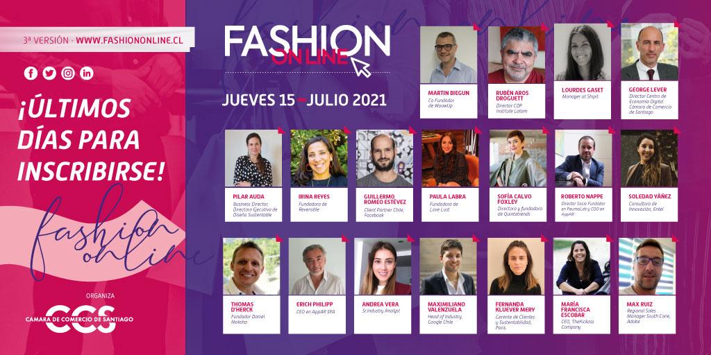 Conoce las presentaciones de los speakers de Fashion Online 2021